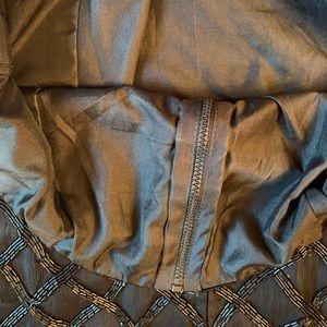 Tops - Black Silk Beaded Top Size Medium